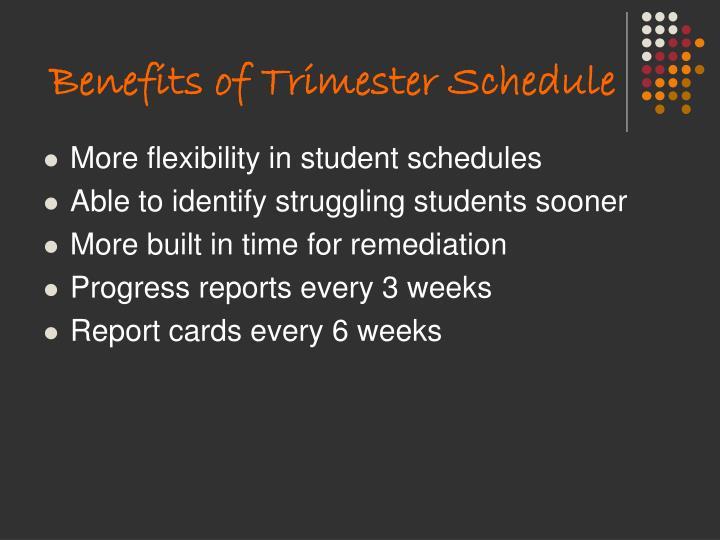 Benefits of Trimester Schedule