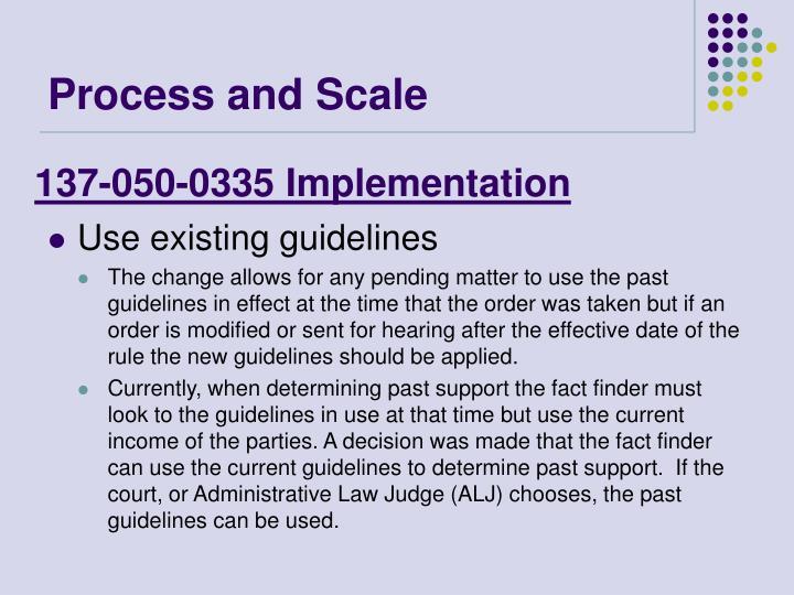 137-050-0335 Implementation