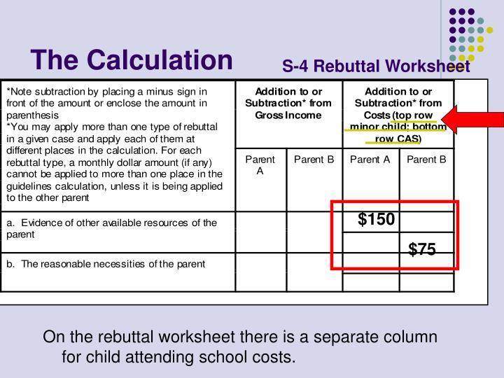 S-4 Rebuttal Worksheet