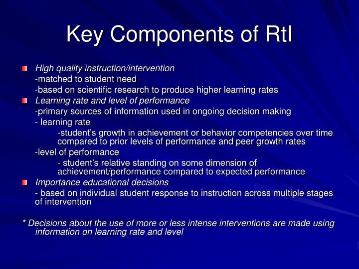 Key Components of RtI