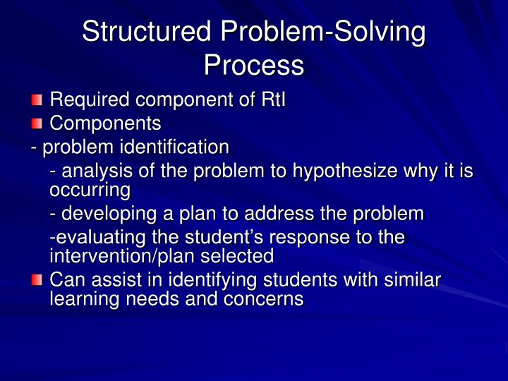 Structured Problem-Solving Process
