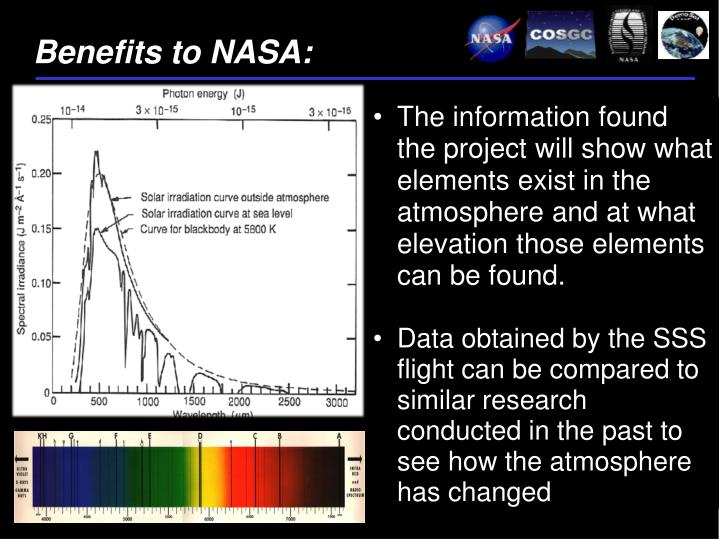 Benefits to NASA: