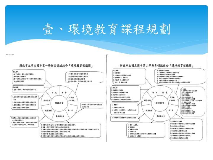 壹、環境教育課程規劃