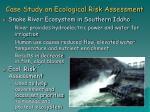 case study on ecological risk assessment