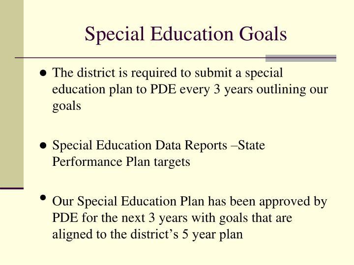 Special Education Goals