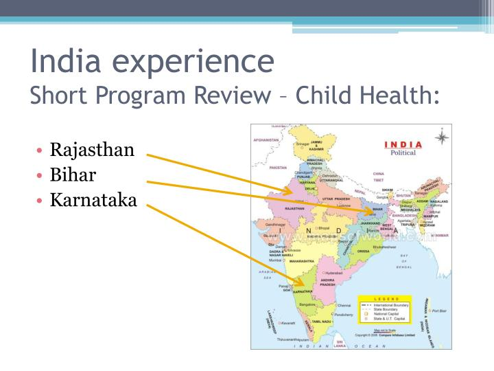 India experience short program review child health