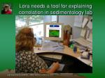 lora needs a tool for explaining correlation in sedimentology lab