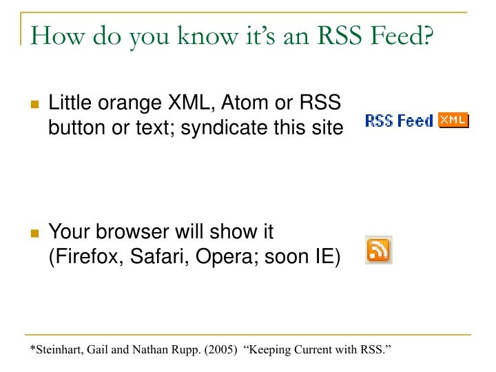 How do you know it's an RSS Feed?