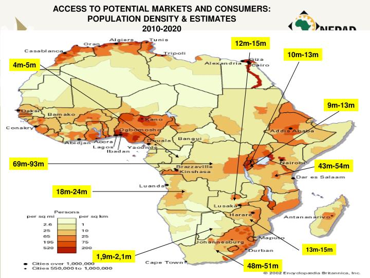 ACCESS TO POTENTIAL MARKETS AND CONSUMERS: POPULATION DENSITY & ESTIMATES