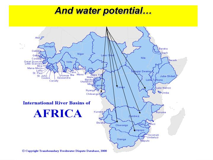 And water potential…