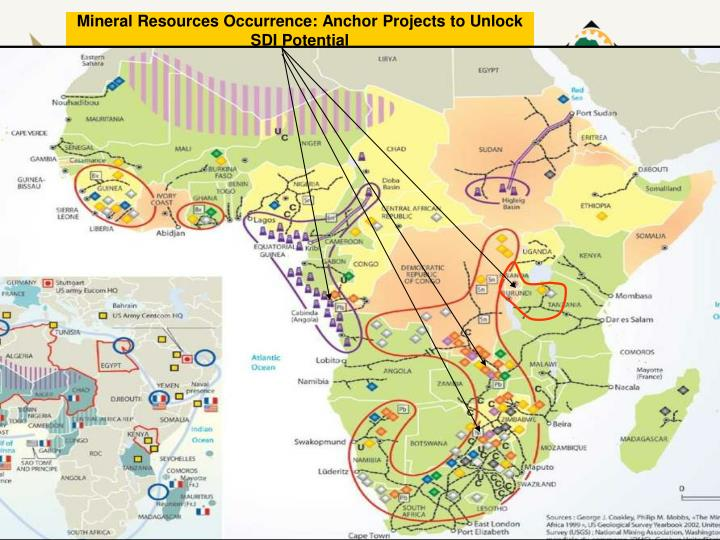 Mineral Resources Occurrence: Anchor Projects to Unlock SDI Potential