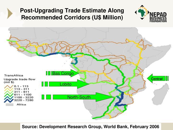 Post-Upgrading Trade Estimate Along Recommended Corridors (U$ Million)