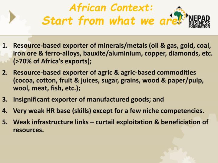 African Context: