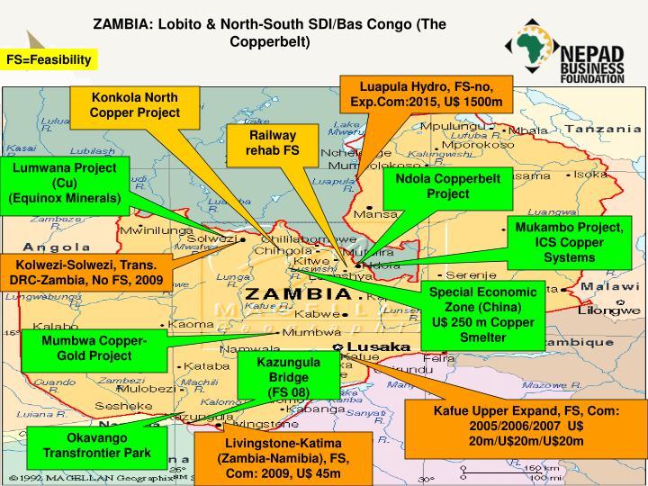 ZAMBIA: Lobito & North-South SDI/Bas Congo (The Copperbelt)
