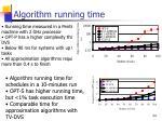 algorithm running time