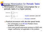 energy minimization for periodic tasks