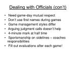 dealing with officials con t