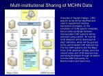multi institutional sharing of mchn data