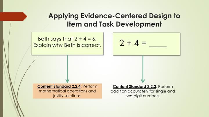 Applying Evidence-Centered Design to