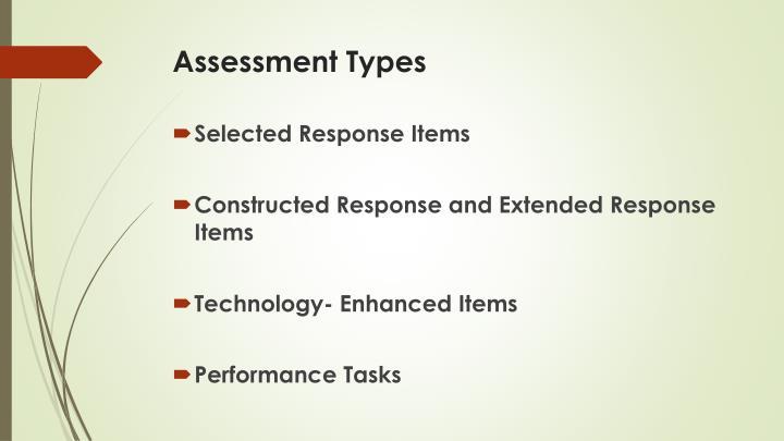 Assessment Types