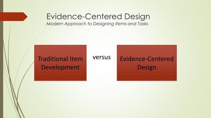 Evidence-Centered Design