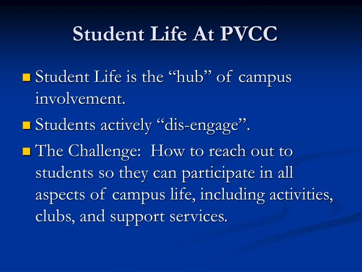 Student life at pvcc