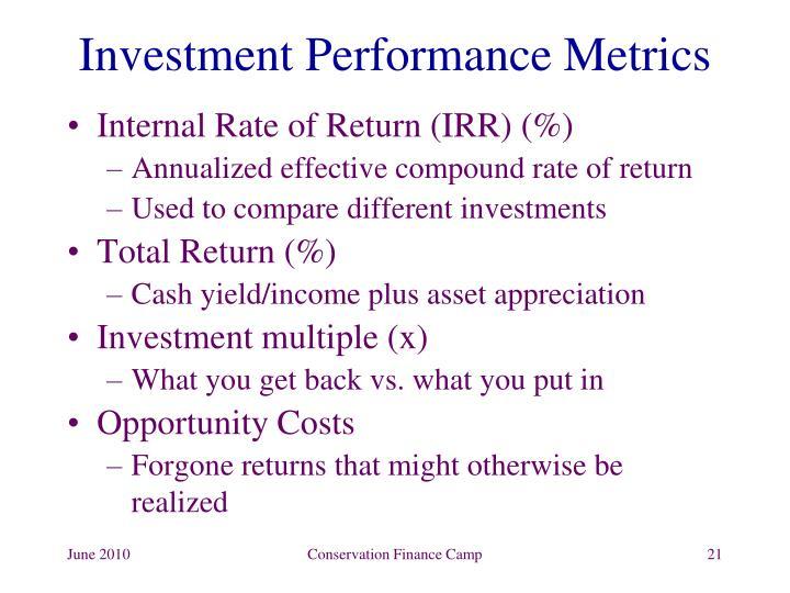 Investment Performance Metrics