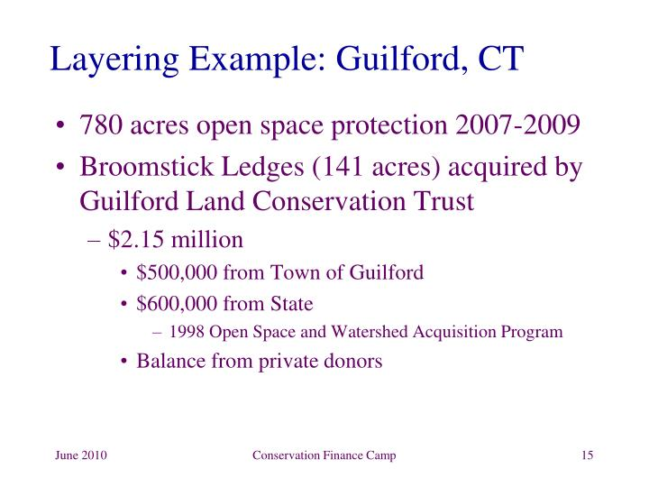 Layering Example: Guilford, CT