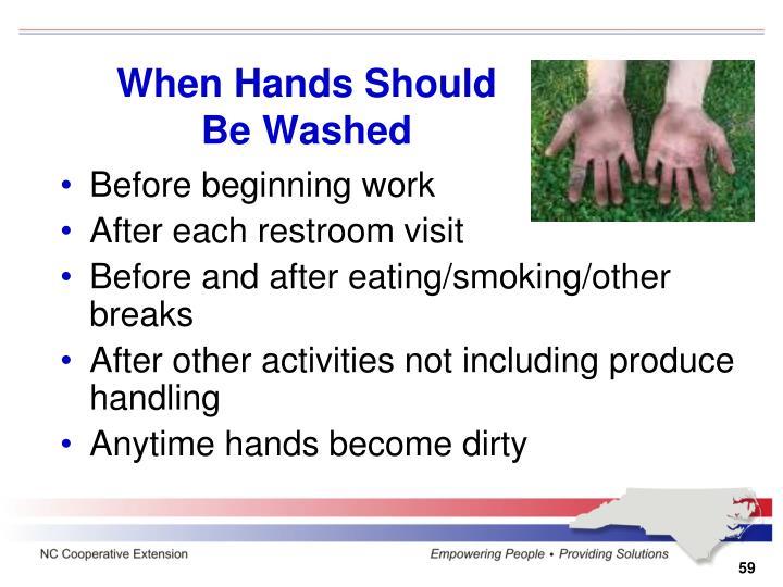 When Hands Should