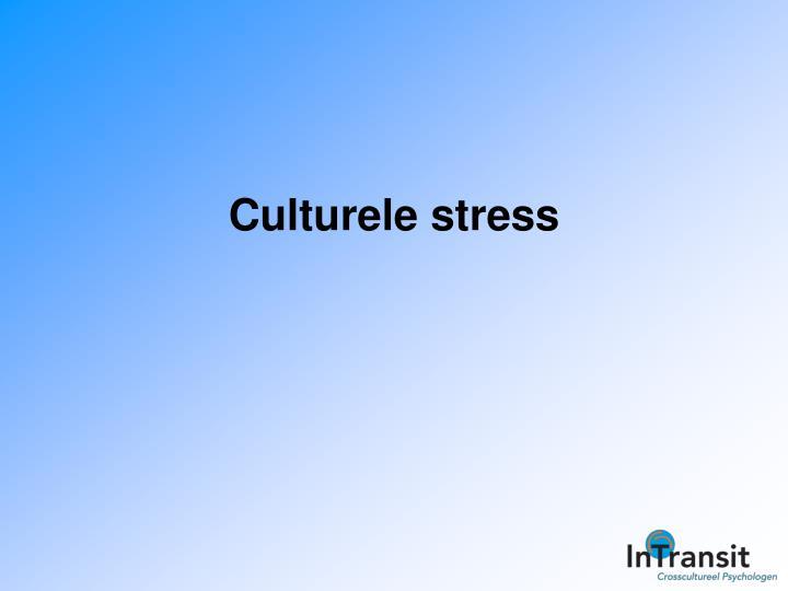 Culturele stress