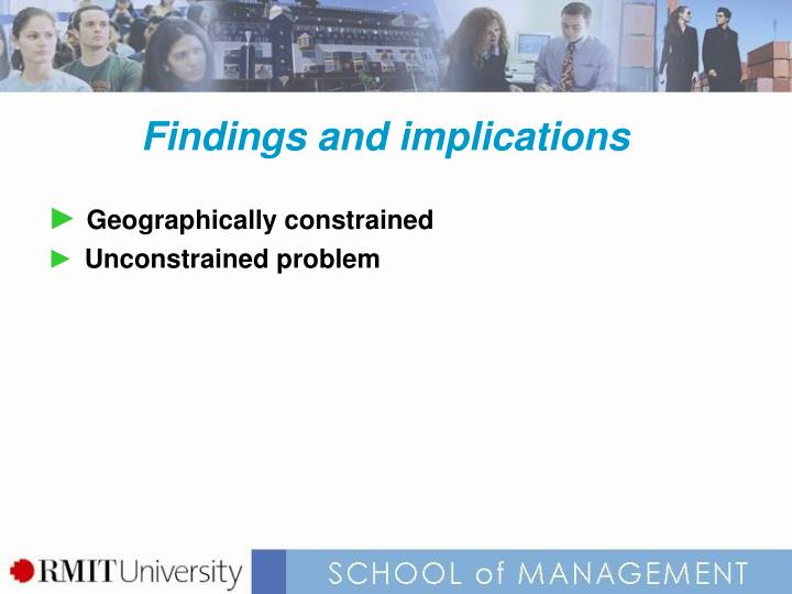 Findings and implications