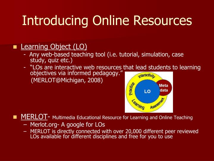 Introducing online resources