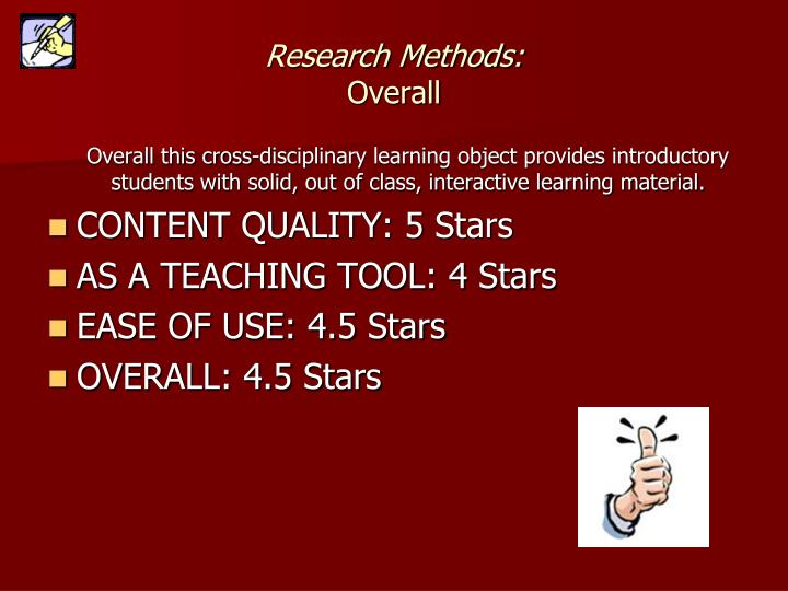 Research Methods: