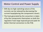 motor control and power supply
