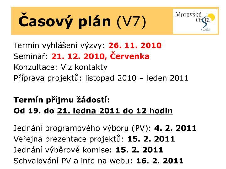 Časový plán