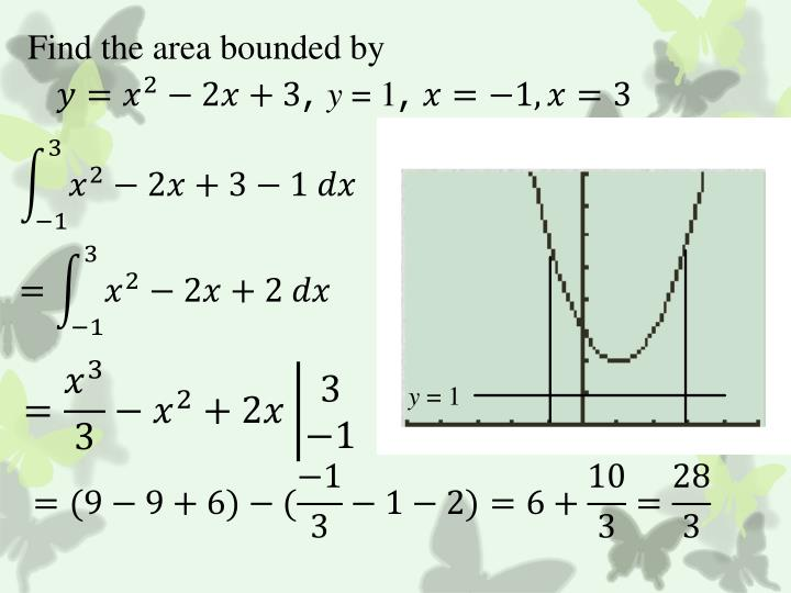 Find the area bounded by