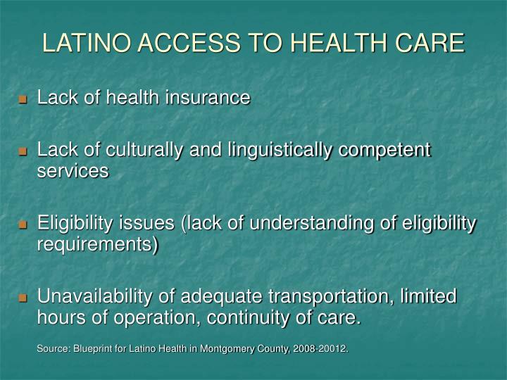 LATINO ACCESS TO HEALTH CARE