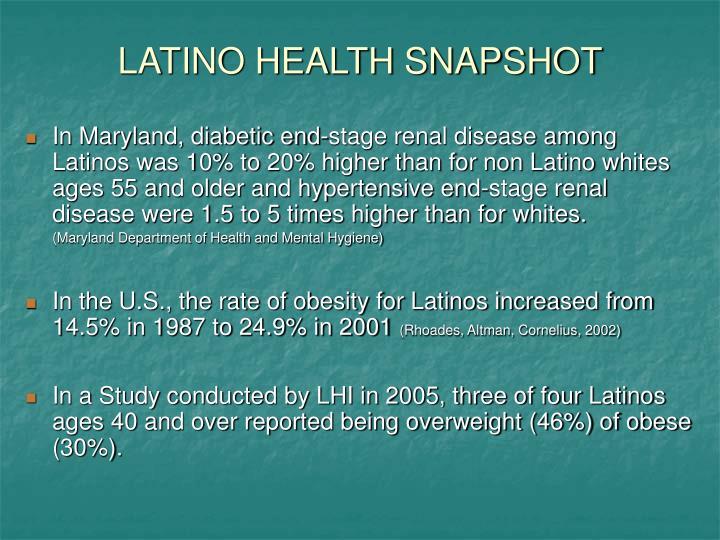 LATINO HEALTH SNAPSHOT