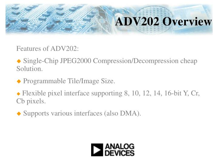 ADV202 Overview