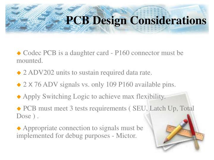 PCB Design Considerations