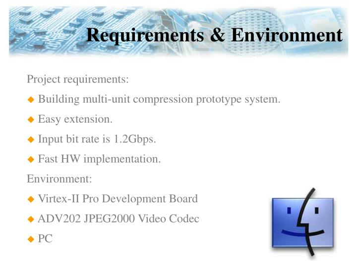 Requirements & Environment