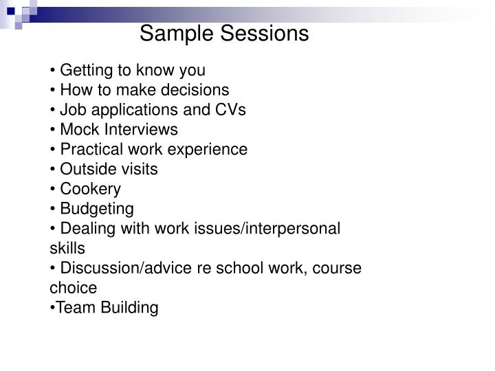 Sample Sessions