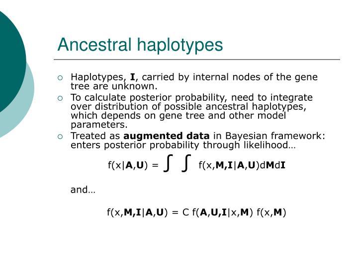 Ancestral haplotypes