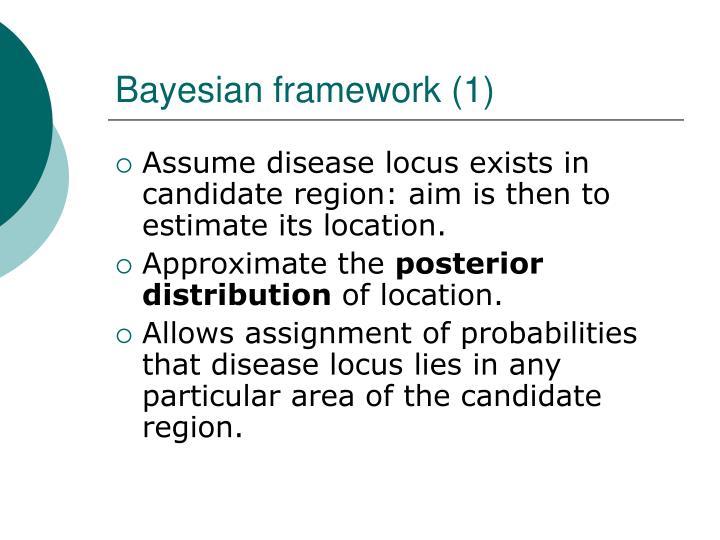 Bayesian framework (1)