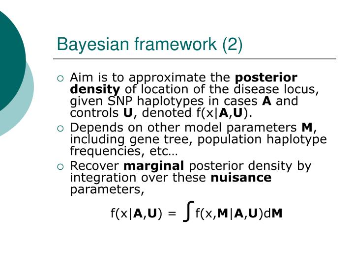 Bayesian framework (2)