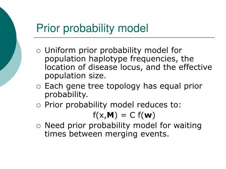Prior probability model