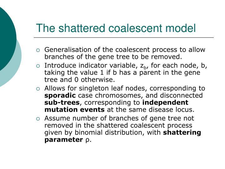 The shattered coalescent model