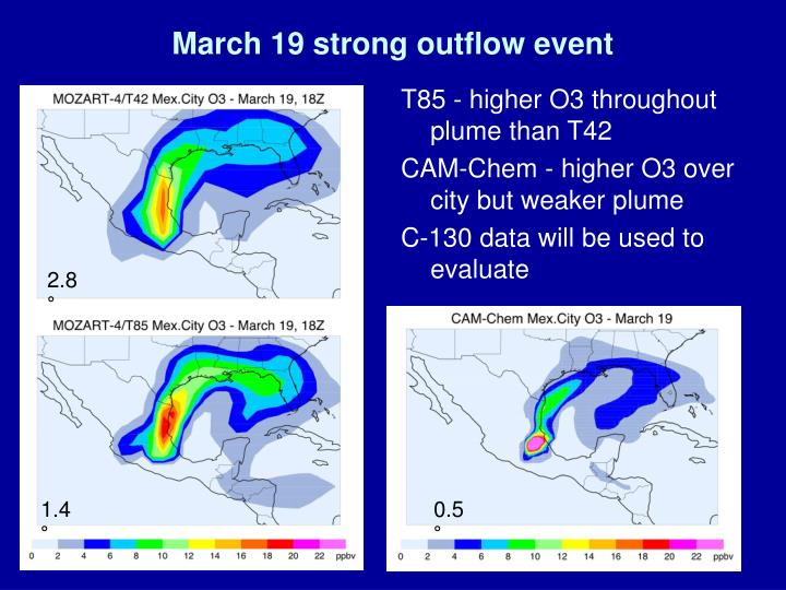 March 19 strong outflow event