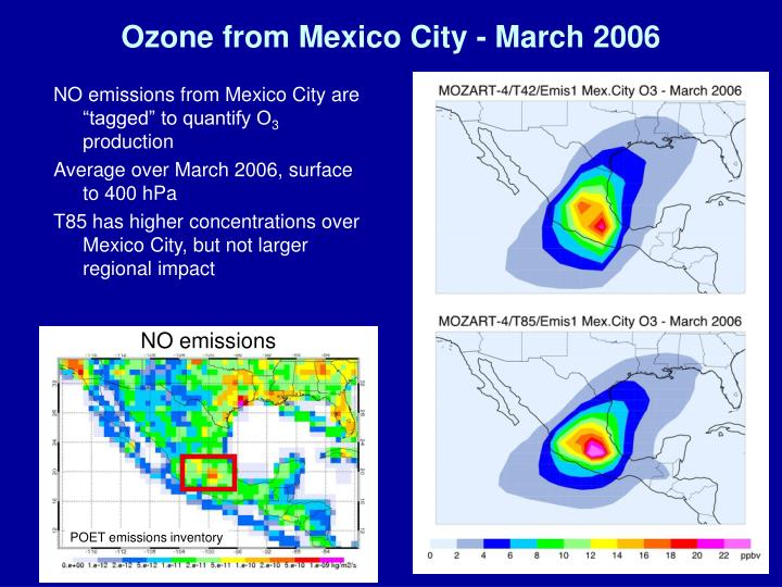 Ozone from Mexico City - March 2006