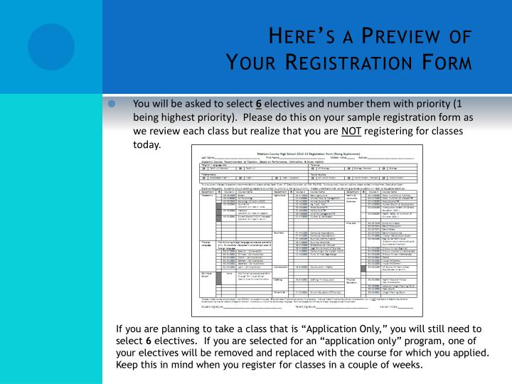 Here s a preview of your registration form